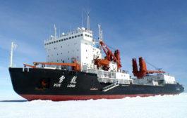 """""""雪龙""""号抵达新西兰进行最后一次物资补给"""