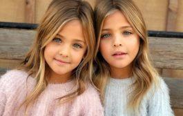 """这对2010年出生的姐妹 已成""""世界最美双胞胎""""(组图)"""